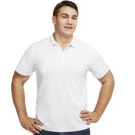 мужская белая рубашка поло для сублимации