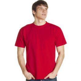 красная однотонная футболка премиум класса
