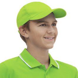 ярко зеленая детская бейсболка
