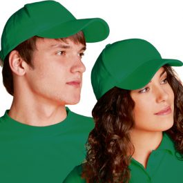 зеленая велюровая бейсболка