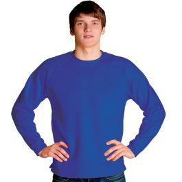 синяя мужская толстовка с круглым вырезом, свитшот