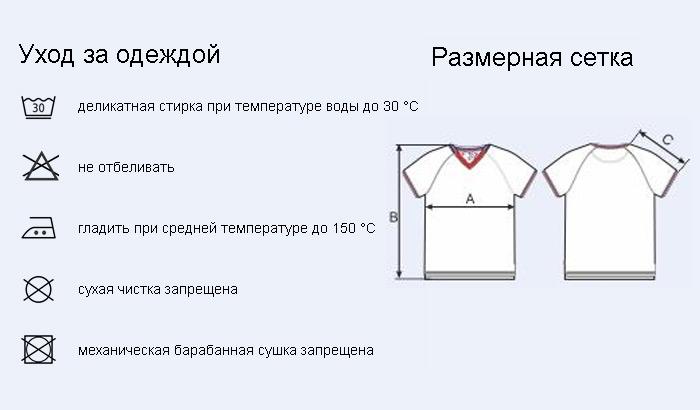 мужская футболка с триколором V-ворот