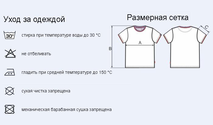 мужская футболка с триколором О-ворот