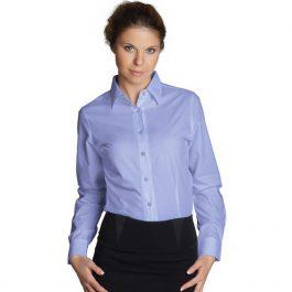 женская классическая сорочка голубая