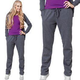 темный меланж, утепленные женские спортивные брюки