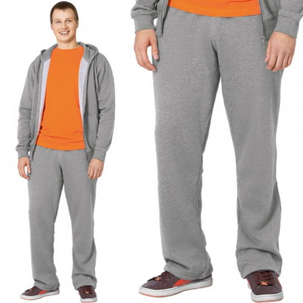 светло серый меланж, утепленные мужские спортивные брюки