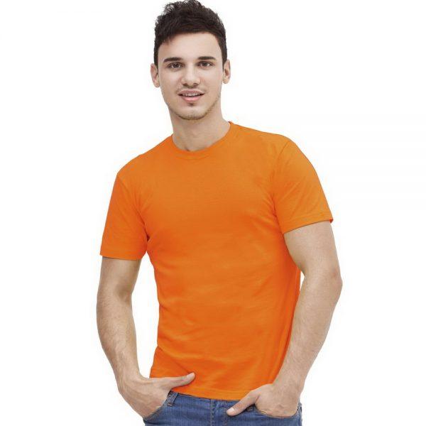 оранжевая футболка без боковых швов оптом