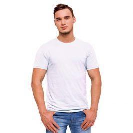 белая промо футболка без боковых швов