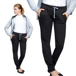черные женские спортивные брюки без начеса