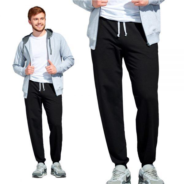 черные мужские спортивные брюки без начеса