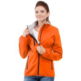 оранжевая женская куртка воротник стойка софтшелл