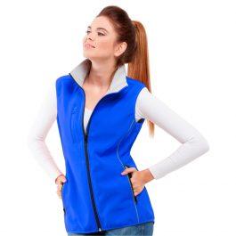 синий женский жилет софтшелл