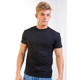 черная плотная хлопковая мужская футболка Leela