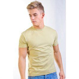 оливковая хлопковая мужская футболка Leela