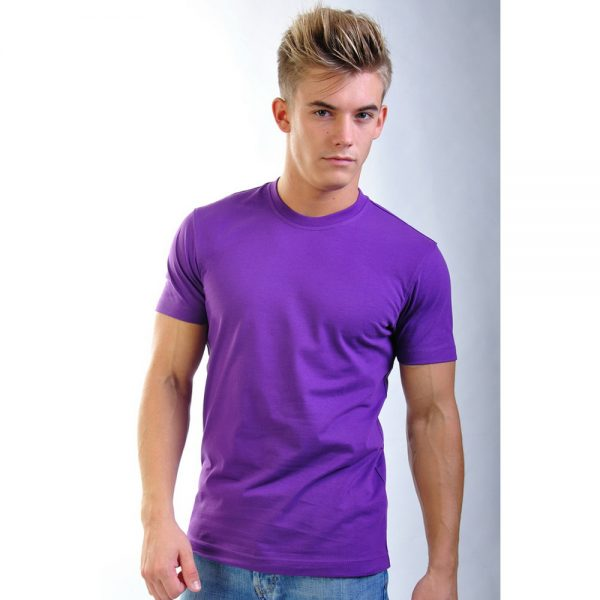 фиолетовая хлопковая мужская футболка Leela