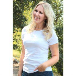 белая женская стрейчевая футболка leela
