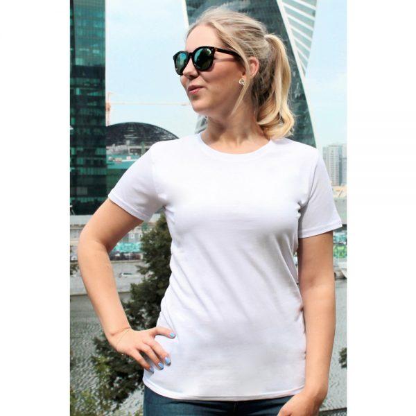 женская футболка leela белая