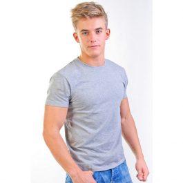 однотонная футболка Leela 180 унисекс серый меланж