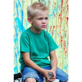 зеленая детская футболка leela