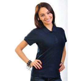 темно синяя женская рубашка поло Leela