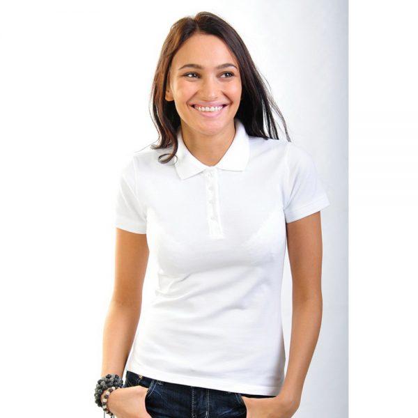 белая женская рубашка поло Leela