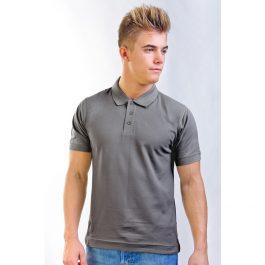тёмно серая мужская рубашка поло Leela