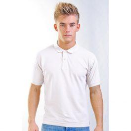белая мужская рубашка поло Leela