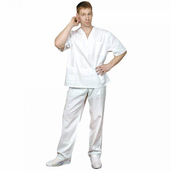 Хирургический костюм белый