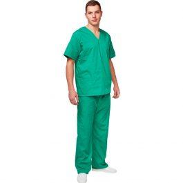 Хирургический костюм зеленый