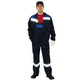 Костюм Легион куртка и полукомбинезон т-синий с васильковым