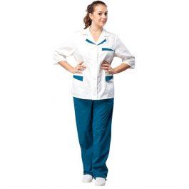 Костюм медицинский Лиза белый и синий