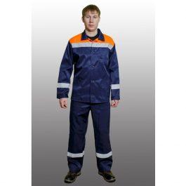 Костюм Стандарт трасса СОП 50мм цвет темно-синий с оранжевым