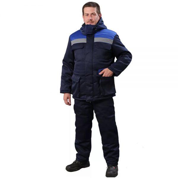Утепленный костюм Буран со светоотражающей полосой