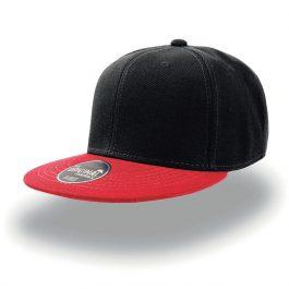 Черная с красным козырьком бейсболка SnapBack - 6-ти клинка