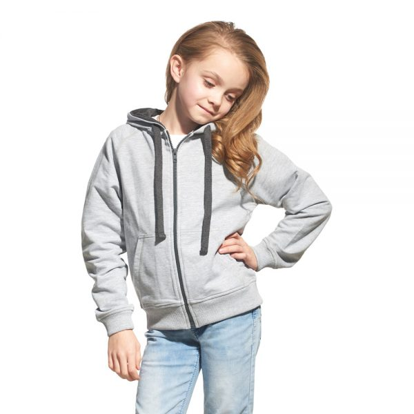 Детская толстовка без начеса цвет серый меланж