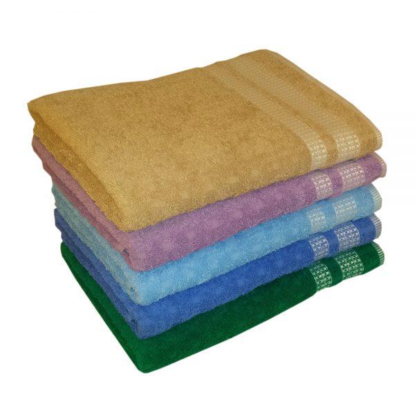 полотенце жаккардовое с квадратиками
