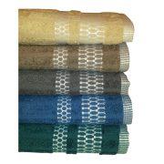 Жаккардовое полотенце с полосками купить оптом