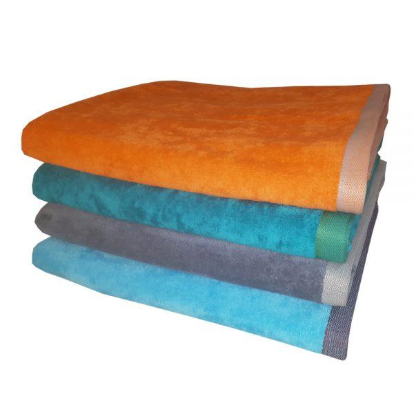 Велюровое пляжное полотенце двустороннее