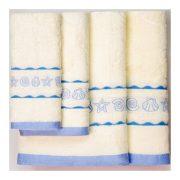 Голубые полотенца с ракушками всех размеров