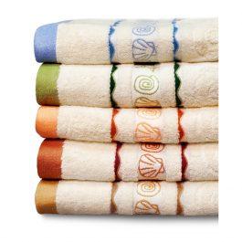 Жаккардовое полотенце с ракушками