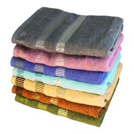 Полотенце с полосами в бордюре купить оптом