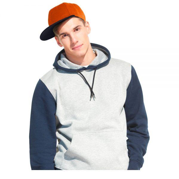 Оранжевая бейсболка SnapBack (хип хоп, снеп бек) с прямым козырьком