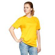 желтая футболка без боковых швов