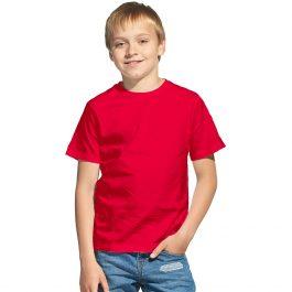 Красная детская футболка с коротким рукавом