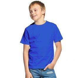 Синяя детская футболка с коротким рукавом
