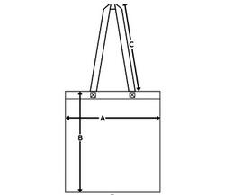 Размерная сетка холщовой сумки
