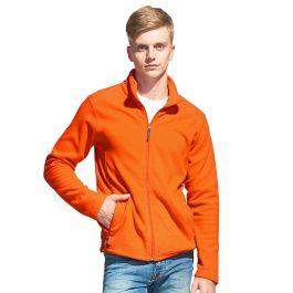 оранжевая мужская флисовая толстовка